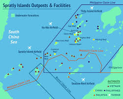 Map Of South China Sea Geogarage Blog What Makes An Island Land Reclamation And The