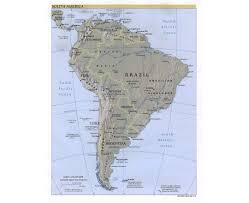 Map Of Central And South America by Of South America With Capitals In Spanish Maps Of South America