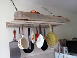 make it yourself a pallet pot rack kitchn