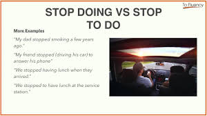 verb pattern of like verb patterns stop doing vs stop to do and start to do vs start
