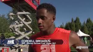 cordell broadus interview bishop gorman las vegas nv youtube