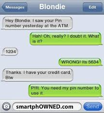 Funny Texting Jokes - fail pin number autocorrect fails and funny text messages