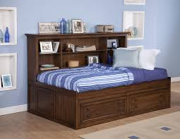 excellent twin storage bed with bookcase headboard headboard