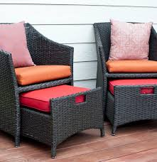 Patio Chairs With Ottomans by Wicker Patio Chairs And Pull Out Ottomans Ebth