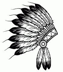 native american feathers hat coloring page kemyetta shaw