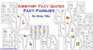 number fact families addition fact activities fact families worksheets and boards