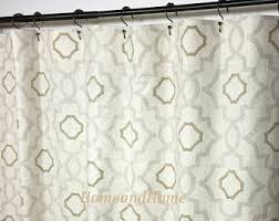108 Inch Long Shower Curtain Custom Fabric Shower Curtain Stall 54 X 78 72 X 84 108 Extra