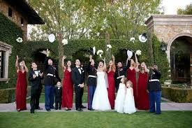 marine bridesmaid dresses wedding united states marine corps dress blues complement