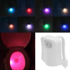 led 8 color night light body motion sensor automatic toilet seat