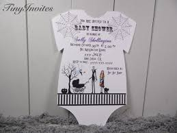 nightmare before christmas baby shower invitations nightmare