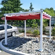 Grape Trellis For Sale Aluminum Outdoor Canopy Grape Trellis Pergola 9 X 9 White