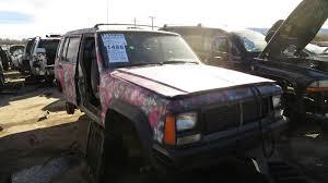 blue camo jeep junkyard find 1993 jeep cherokee pink camouflage edition