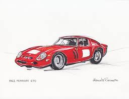 car ferrari drawing classic car drawing antique car print retro illustration old