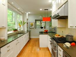 galley kitchen black granite countertop top home design