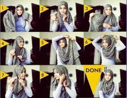 tutorial jilbab remaja yang simple memakai jilbab segi empat simple modern