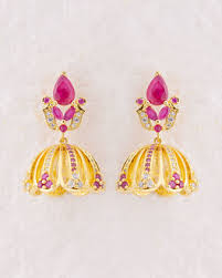 kanphool earrings buy jhumkis pearl silver gold plated jhumkis for women online