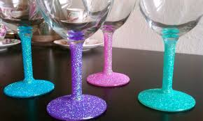 cupcakes u0026 couture diy glitter wine glasses
