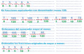 problemas razonados para cuarto grado ejercicio resuelto comparación de fracciones matematicas para ti