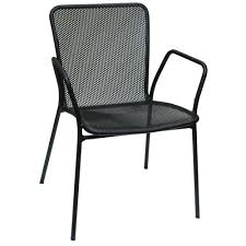 American Patio Furniture by American Tables And Seating 91 Black Outdoor Chair With Arms