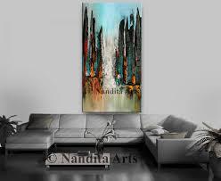 home design ideas nandita cityscape painting cityscape art large abstract cityscape