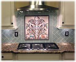 kitchen backsplash murals the olive tree of jerusalem ceramics tile mural balian studio
