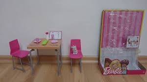 barbie dining set u0026 kitten youtube