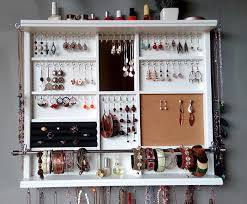 Jewelry Cabinets Wall Mounted by Organizer Large Earrings Display Shelf Jewelry Storage Wall