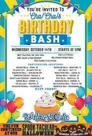 Gurnee Mills Map Rainforest Café Hosts Birthday Bash For Cha Cha At Rainforest