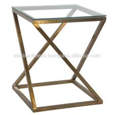 gold metal side table high end modern gold metal side coffee table l stand with glass