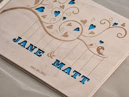 engravable wedding guest book custom wood wooden wedding guest book bigz guestbook laser