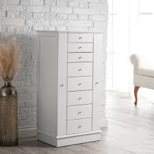 Mirror Armoire Wardrobe Innovation Luxury White Jewelry Armoire For Inspiring Nice