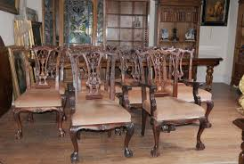 Victorian Dining Table Set Chippendale Chairs Set Suite Mahogany - Chippendale dining room furniture