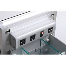 Robern Vanities Robern Cb Vdelectric Vanity Electrical Outlet Strip Bathroom