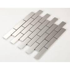 metal kitchen backsplash tiles mosaic subway tile grey metal kitchen wall tiles hc1 stainless