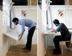 Wall Desk Ideas Wall Folding Desk For Small Place Clever Ideas Pinterest Fold Up