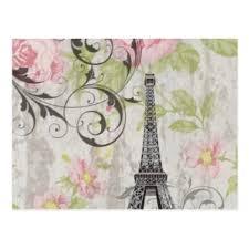 tower floral girly paris postcards zazzle co nz