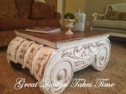 Design A Coffee Table 20 Ideas Of Distressed Ionic Capital Coffee Table