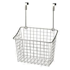 Cabinet Door Basket Large The Cabinet Door Wire Grid Basket Nickel At Home