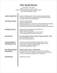 official resume format sle resume format for fresh graduates two page format 1 1