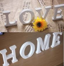 home decor love love english letter 3d wall sticker wooden word letter wall