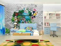 modern children u0027s room wallpaper non woven mickey mouse comic