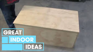 How To Make A Wood Toy Chest by How To Build A Storage Chest Indoor Great Home Ideas Youtube