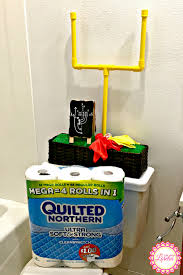 novelty toilet paper holder football decor diy goal post toilet paper holder for the big