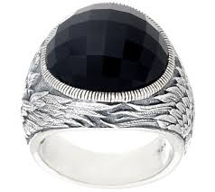 kay jewelers clearance scott kay black onyx guardian angel ring page 1 u2014 qvc com