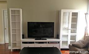 Tv Stand Bookcase Combo Ikea Entertainment Unit Hemnes Tv Stand Family Room