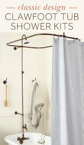 Shower Curtain Clawfoot Tub Solution Convert Your Clawfoot Tub Into A Full Shower With Signature
