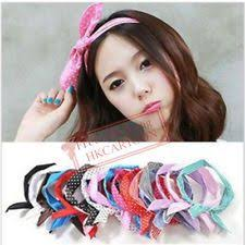 korean headband sweet korea korean girl bunny ear headband rabbit ear hair