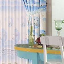 Bedroom Valance Curtains Dolphin Patterns Blue Curtains For Bedroom No Valance