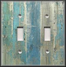beach light switch covers light switch plate cover beach aged wood image blue coastal home