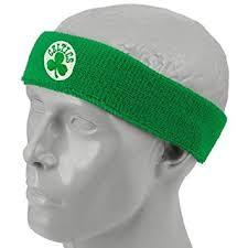 green headband boston celtics team logo headband sports headbands